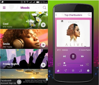 mooditt music application