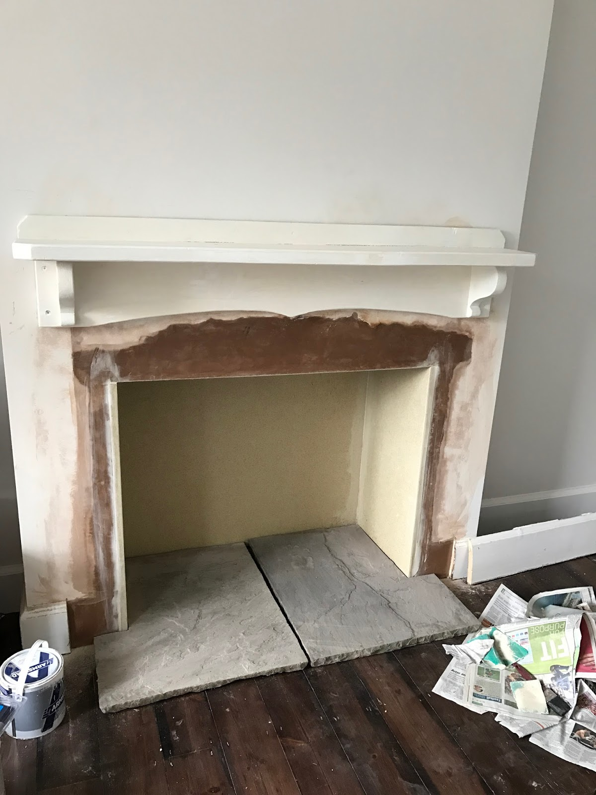 project house opening up the chimney breast and fitting a