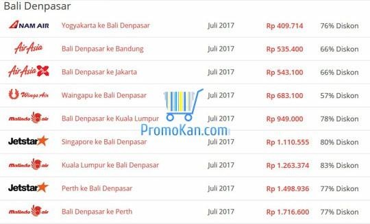 Tiket Pesawat Jakarta Bali Promo 2018 Ancora Store