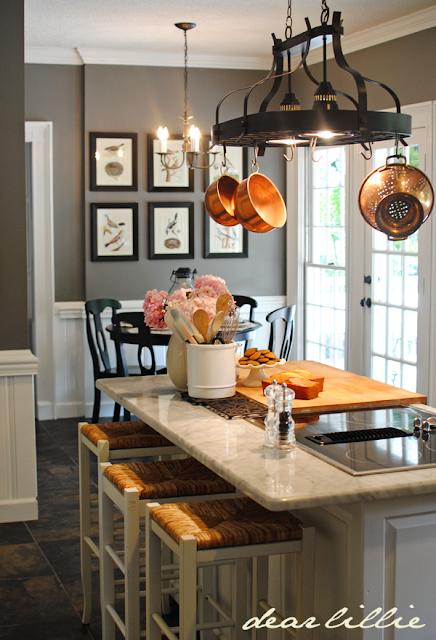 kitchen with benjamin moore chelsea gray walls