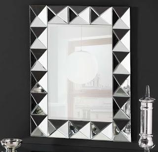 Espejo Cristales Cortados Triangulos Cohen