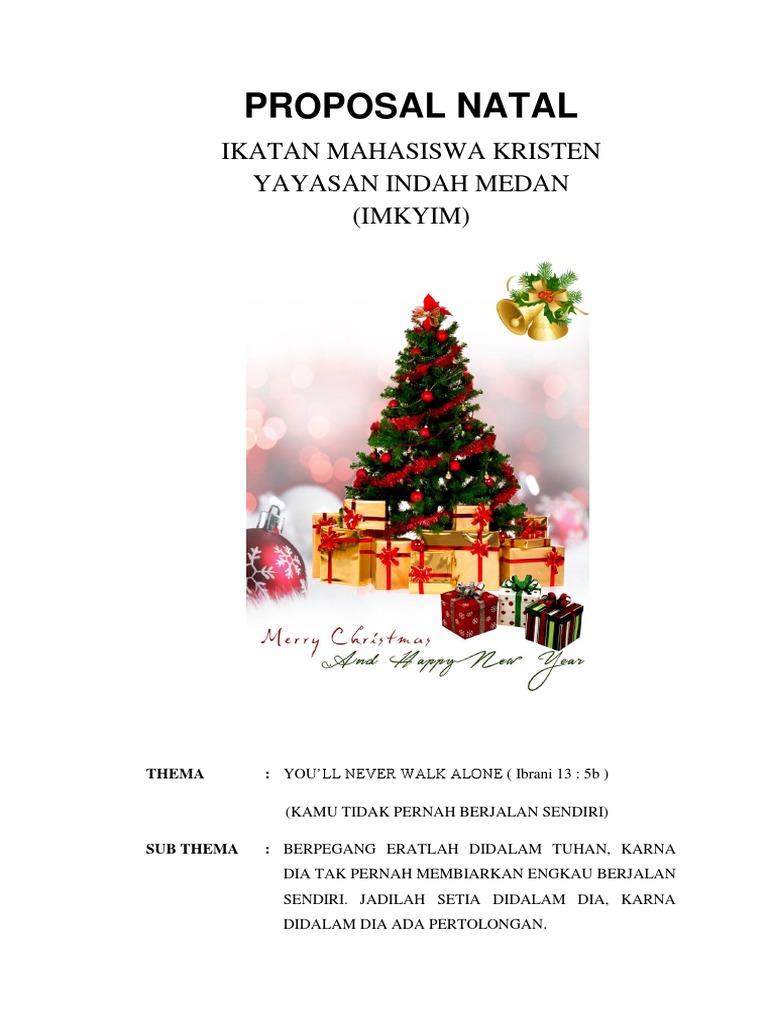 Contoh Proposal Cari Dana Natal Terlengkap Dengan Rincian Biaya