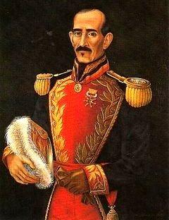 Imagen del General Juan José Flores a color