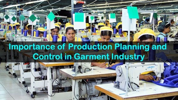 PPC in garment manufacturing industry