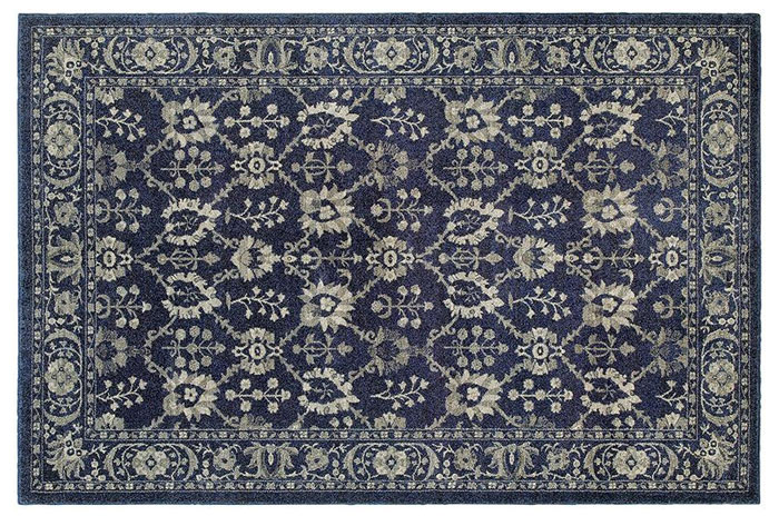 Blue and Gray Rug from Home Decorators | 20 Classic Style Rugs for Any Budget at www.andersonandgrant.com