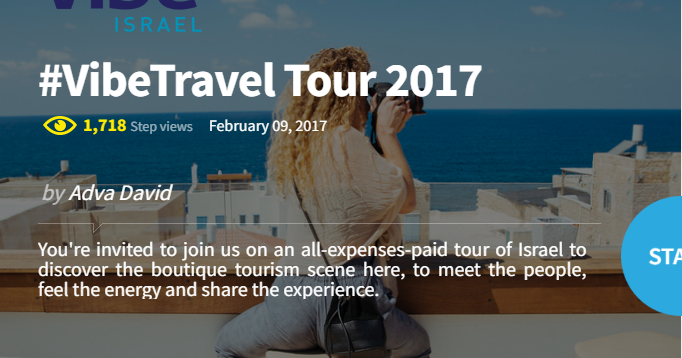 Vibe Israel Search for 5 Travel Bloggers for All Expense Paid Press Trip
