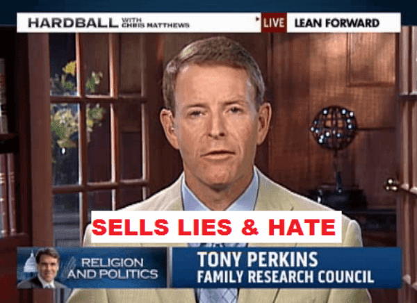 Family Research Council's Hate Monger Tony Perkins
