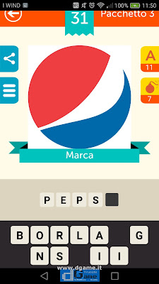 Iconica Italia Pop Logo Quiz soluzione pacchetto 3 livelli 31-50