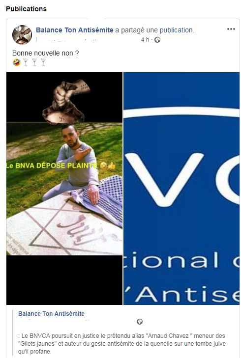 balance ton antisémite, Arnaud Chavez,Bnvca