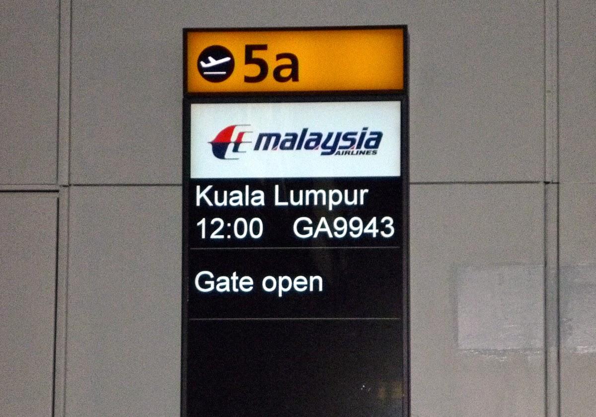 boarding gate to Kuala Lumpur