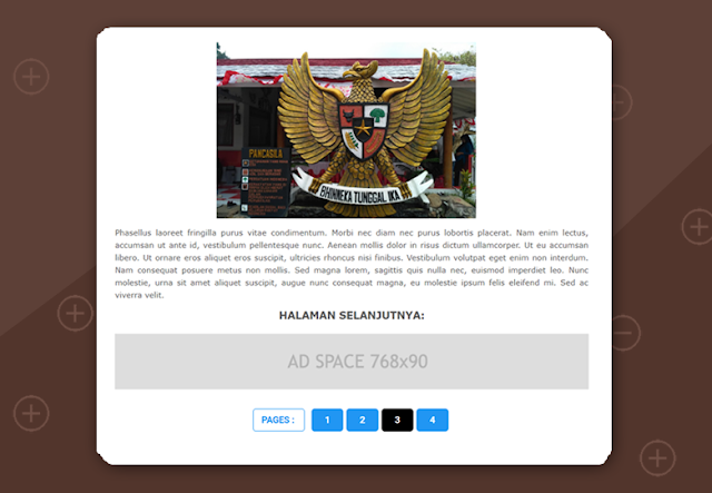 Membuat Pagination with Reload di Postingan Blog