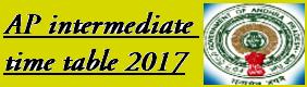 AP 12th Exam Time Table 2017 @bieap.gov.in