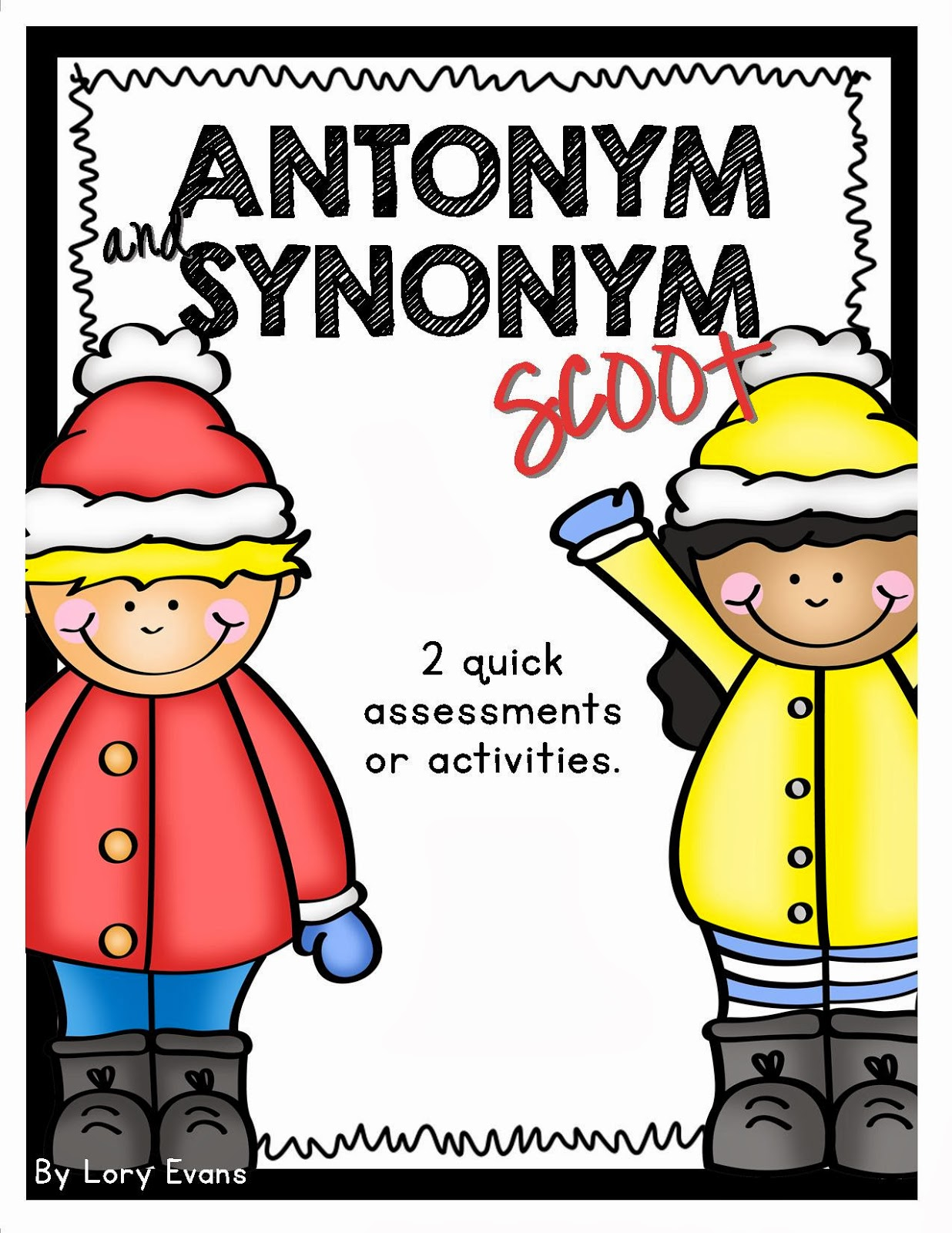 Lory S 2nd Grade Skills Antonym And Synonym Scoot Freebie