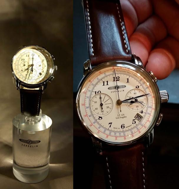 Zeppelin Uhr mit klassischem Ziffernblatt im old school style