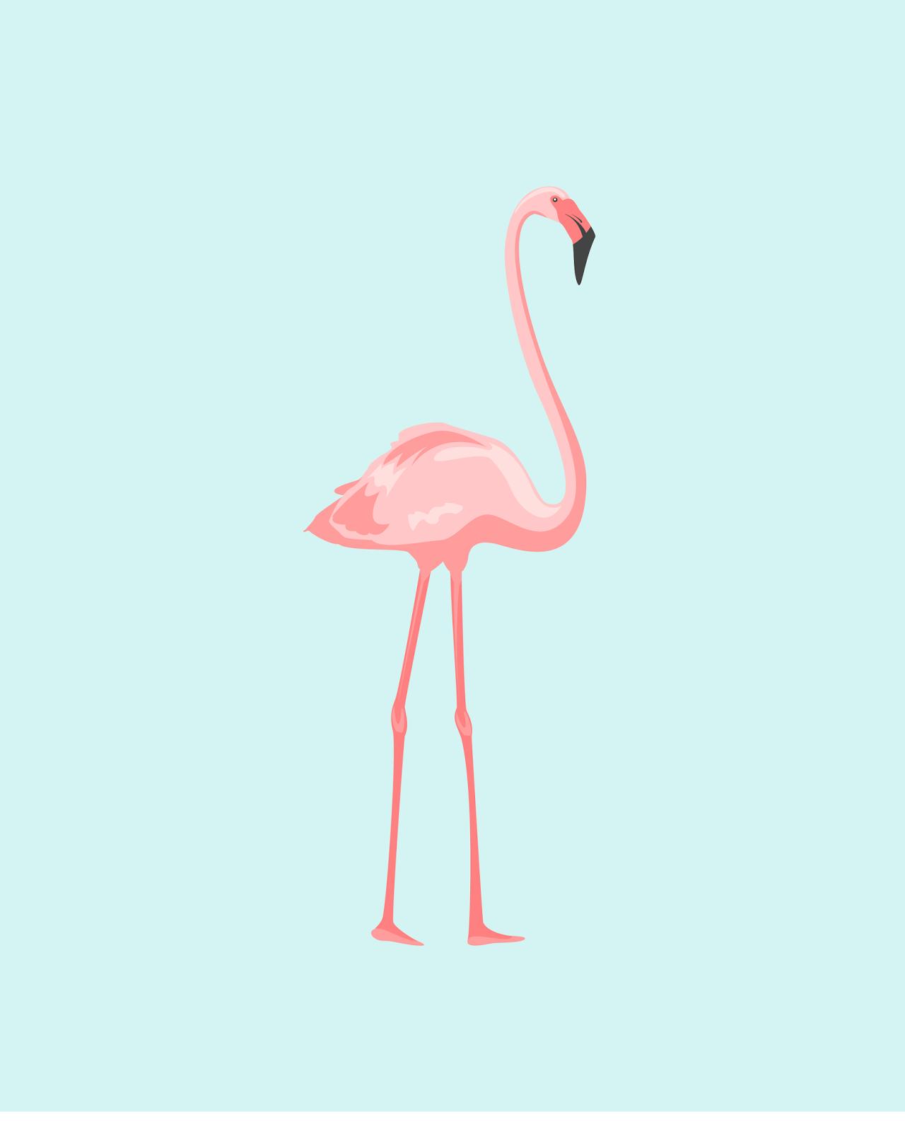 FREE flamingo printables