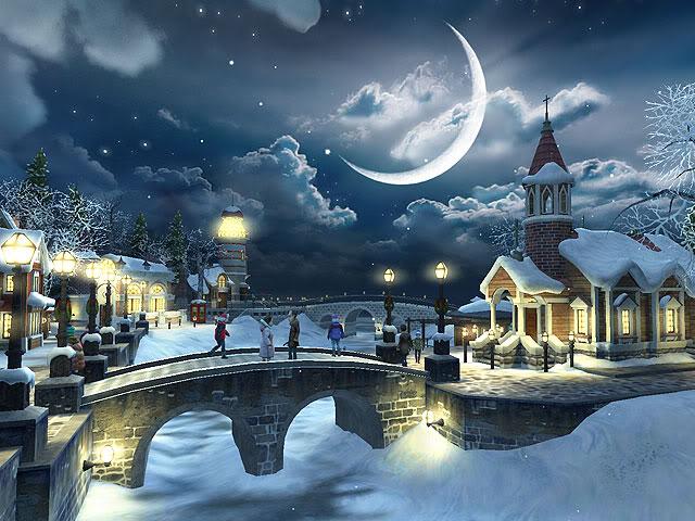 Christmas Scene Screensaver Wallpaper: Create Free Wallpaper: Christmas Winter Scene For Desktop