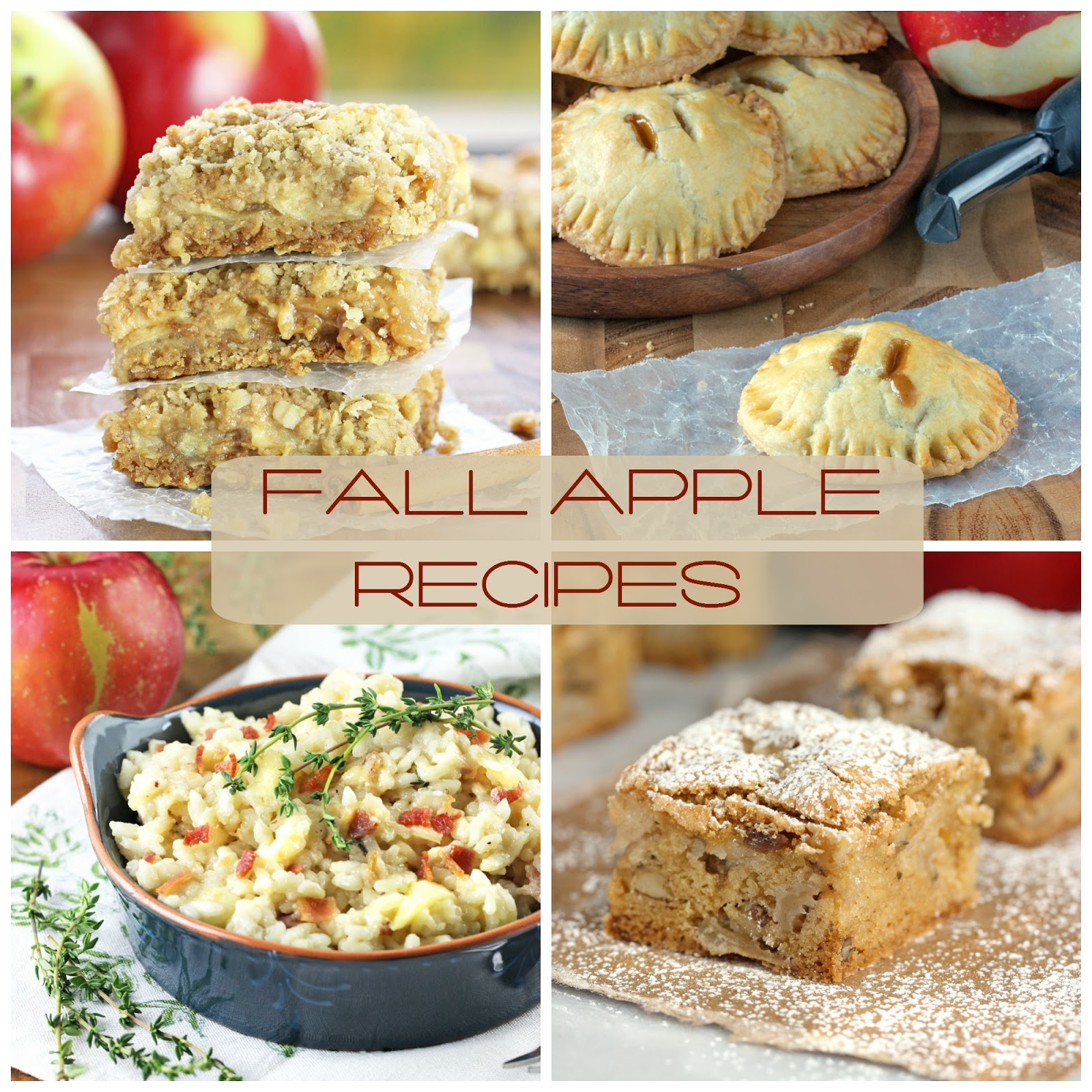 Fall Apple Recipes from Cooking on the Front Burner