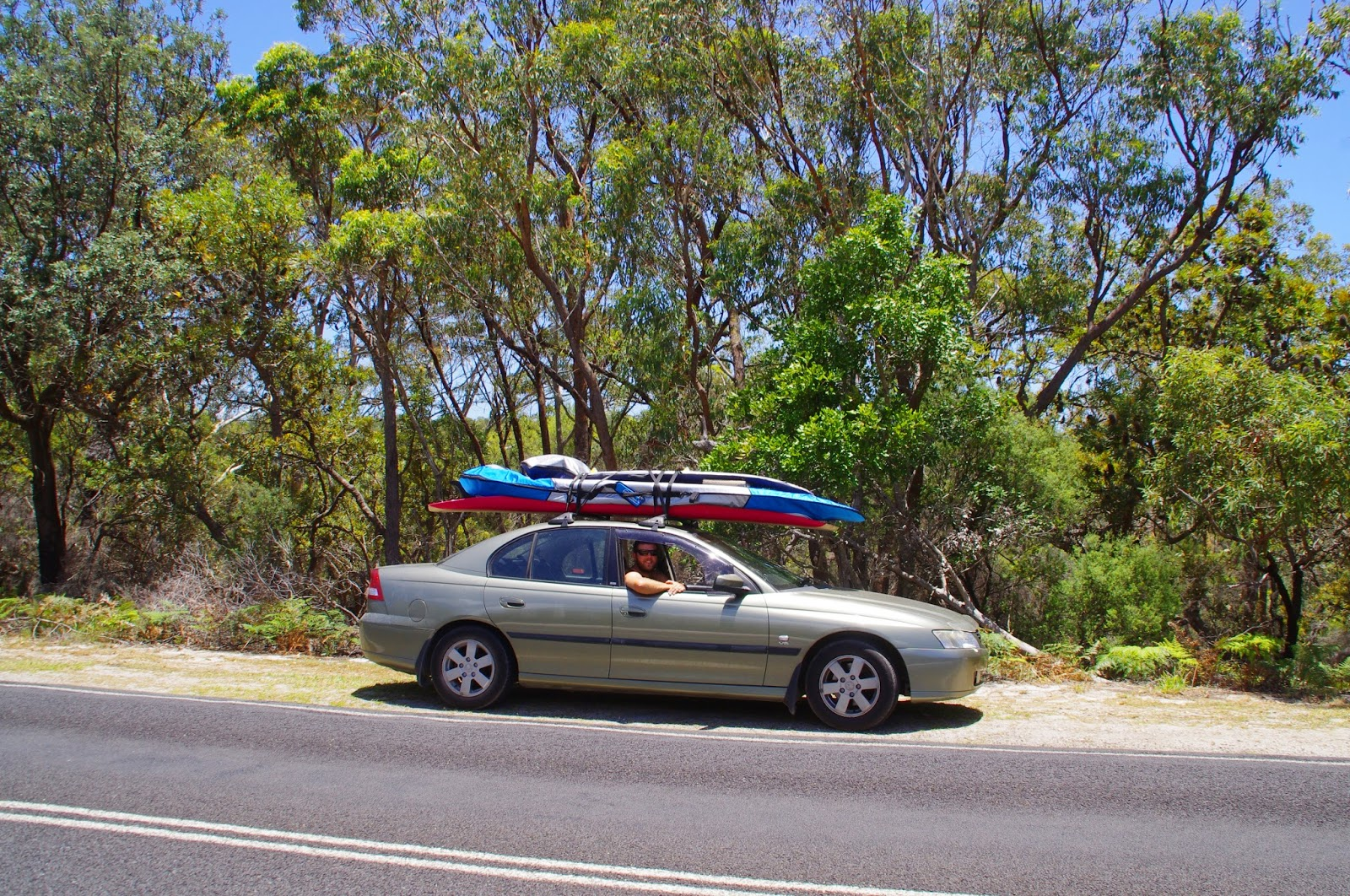 Driving around Stradbroke Island