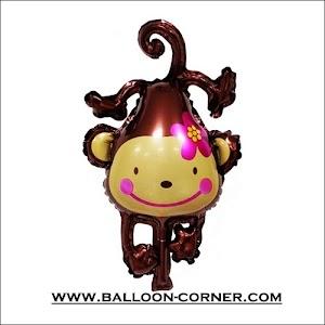 Balon Foil Monyet Bunga Mini