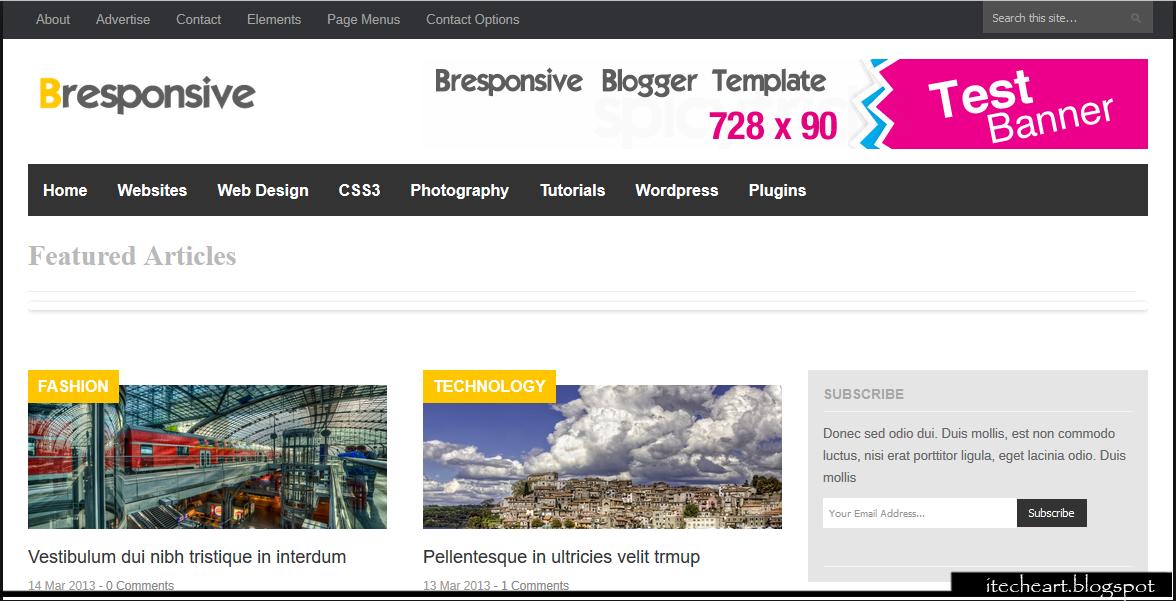 Ads friendly SEO optimized blogger templates - inCrumb.com ...