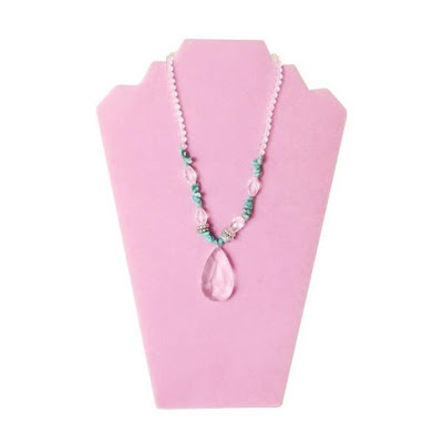 Deluxe Velvet Necklace Display Easel in Pink from NileCorp.com