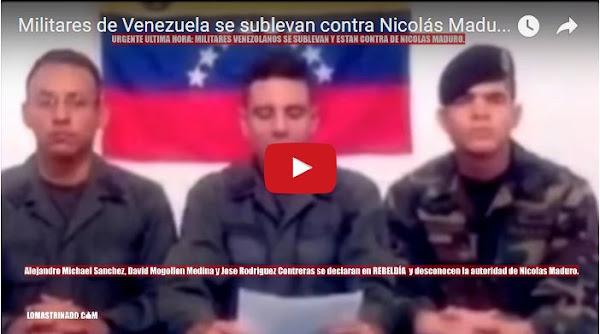 Militares Activos hacen llamado a alzarse contra el  régimen