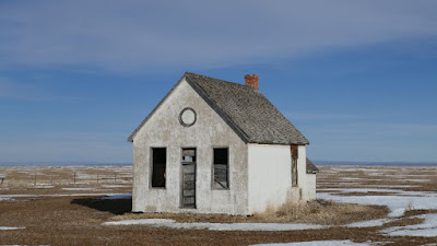 Nemiscam, Alberta, school, Charles, abandoned, Red Coat Trail