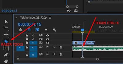 cara memotong musik di adobe premiere pro