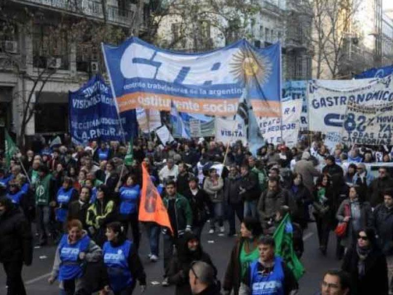 Central obrera argentina pone fecha a paro nacional para abril