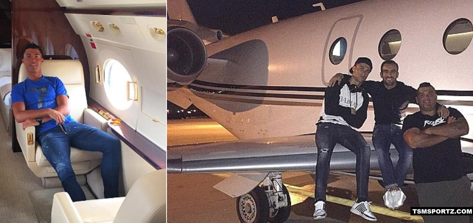Ronaldo owns a private jet price at £15 million