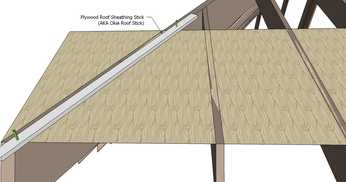Roof Framing Geometry Plywood Roof Sheathing Stick