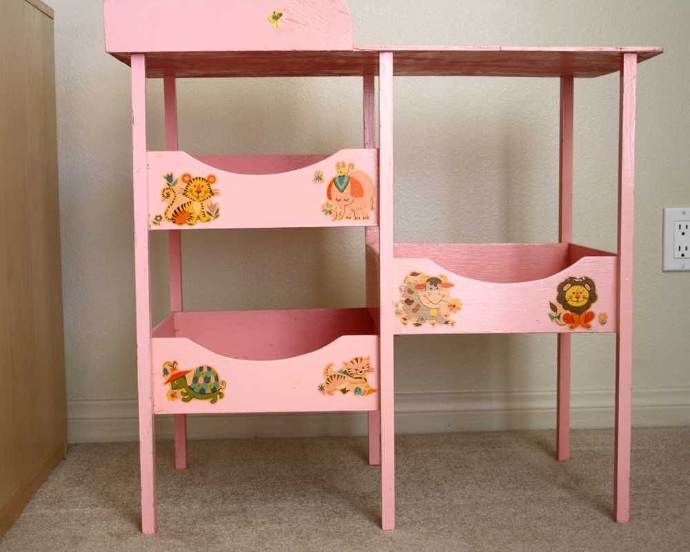 Sparkle Power!: Vintage Baby Doll Changing Table
