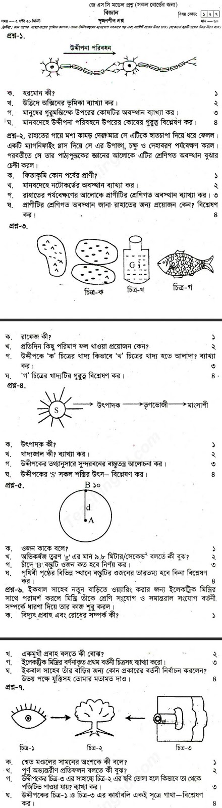 Jsc General Science Suggestion