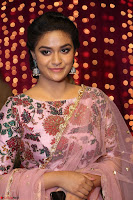 Keerthi Suresh Looks super cute in Designer Anarkali Dress at Zee Telugu Apsara Awards 2017 09.JPG