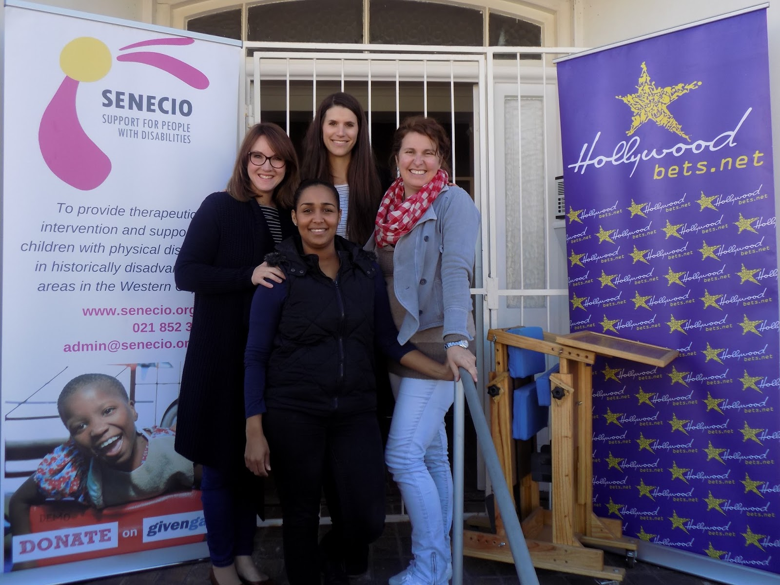 Senecio Support for People with Disabilities is thankful for a donation of therapeutic equipment from Hollywoodbets Beacon Valley