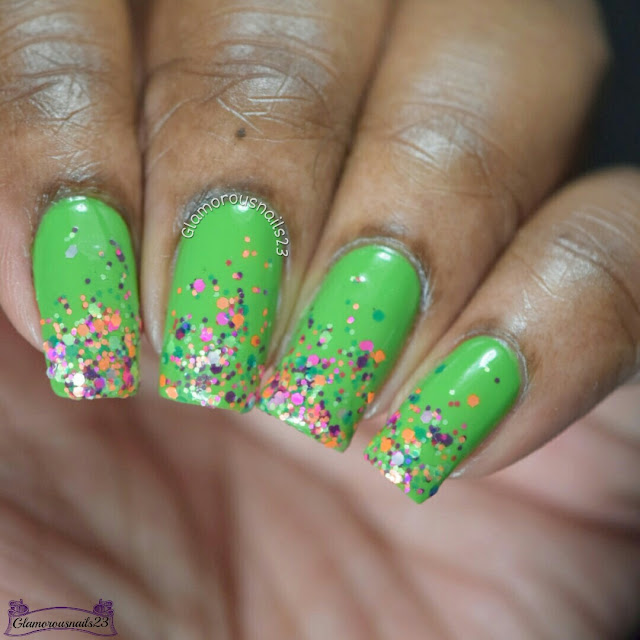 WNAC March 2017 Day 3 - Glitter Gradient