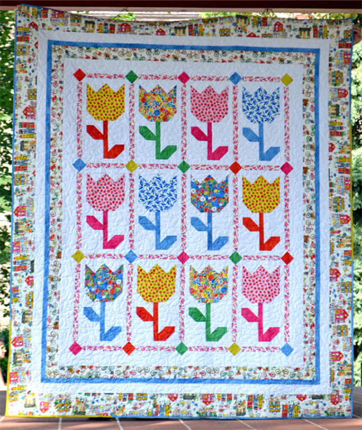 Tulips Quilt Free Pattern designed by Wendy Sheppard from Windham Fabrics