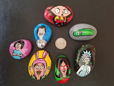 Shawn Christopher Mooney painted rocks.