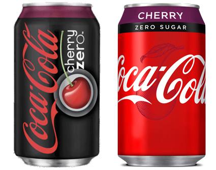 Cherry Coke Zero New Can