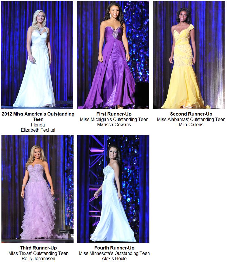 Miss America's Outstanding Teen 2012 ($25,000)