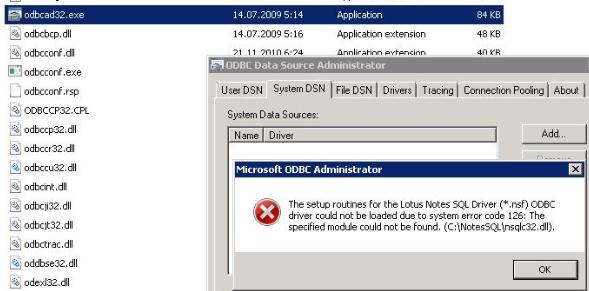 🔥 ODBC driver could not be loaded - system error