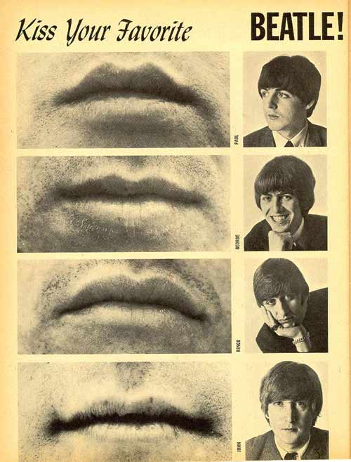 Your Favorite Celebs Exposed: Kiss Your Favorite Beatle