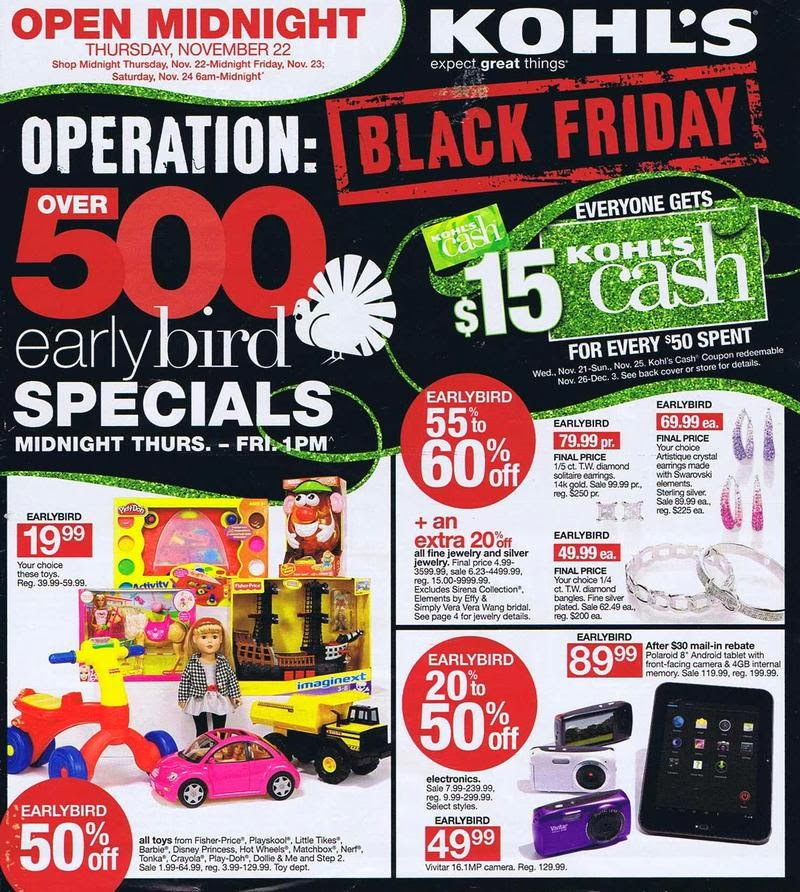 Coupon Clipping Moms Kohl S Black Friday Ad