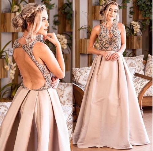 vestido de festa longo saia ampla