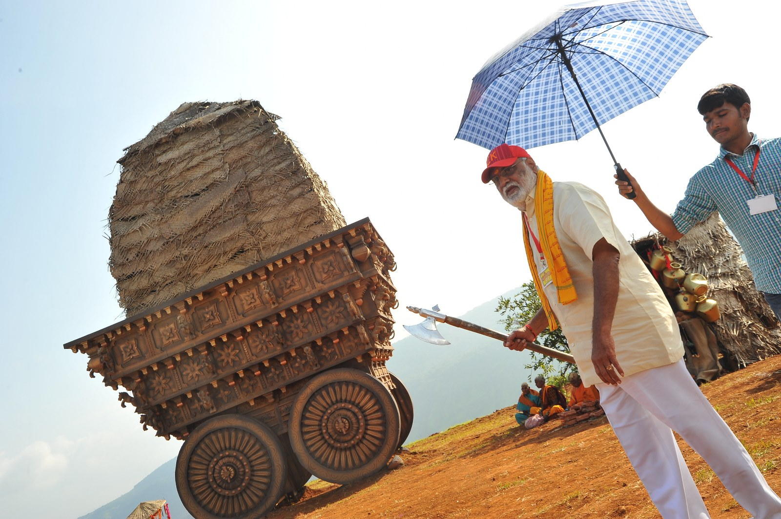 om namo venkatesaya working stills-HQ-Photo-2
