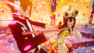 Tsuyu Asui, Denki Kaminari y Momo Yaoyorozu se unen a My Hero Game Project