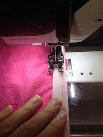Walking Foot on Bernina Sewing Machine