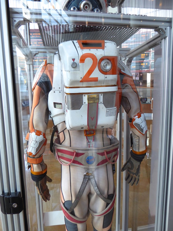 The Martian NASA spacesuit back detail