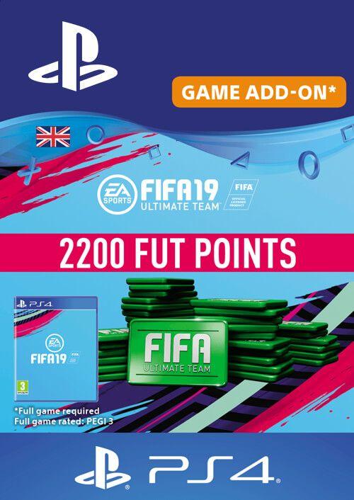 2200 FIFA 19 Points PS4 PSN Code - UK - DLC