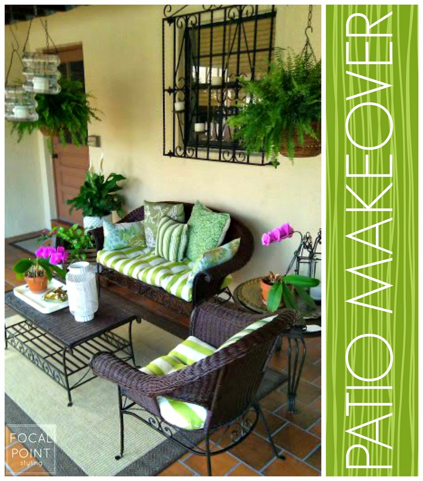 FOCAL POINT STYLING MIXING OLD & NEW FOR A PATIO MAKEOVER UNDER $500